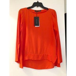Zara boat neck blouse